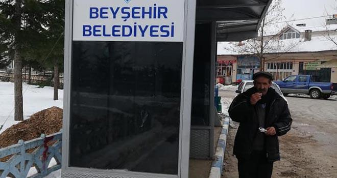 Beyşehir'de mahallelere bekleme durağı kuruldu
