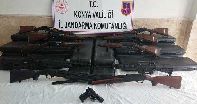 Kaçak üretilmiş av tüfekleri ele geçirildi