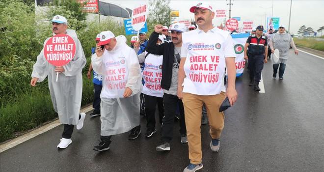 'Emek ve Adalet Yürüyüşü' ikinci gününde