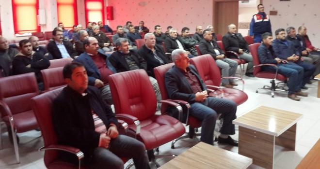 Ilgın'da okul servisşoförleri bilgilendirildi