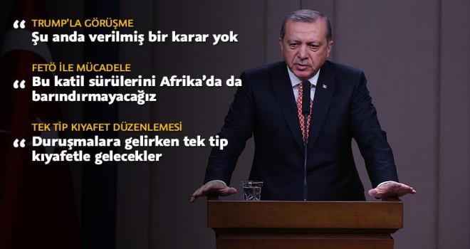 Cumhurbaşkanı Erdoğan: Trump ile görüşme ile ilgili verilmiş kararım henüz yok