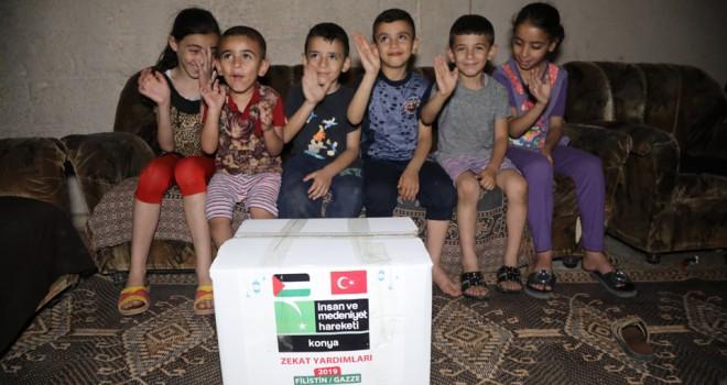 Yardımlar Gazze'ye ulaştı