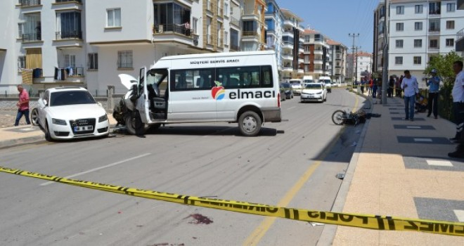 Aksaray'da trafik kazası: 1 ölü, 2 yaralı