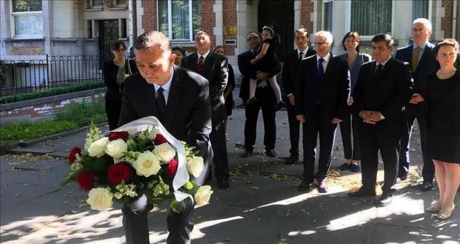 Şehit diplomat Aksoy Brüksel'de anıldı
