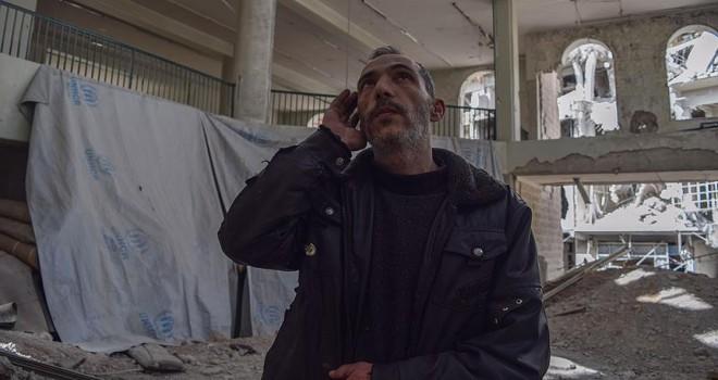 Doğu Guta'da Esed rejiminin yıktığı camide ezanlar susmuyor