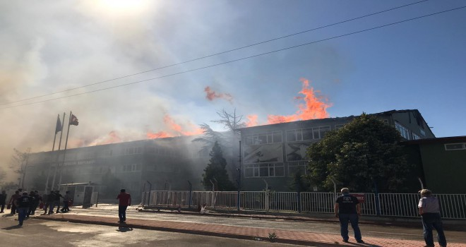 Huğlu Av Tüfekleri çatısı yanıyor