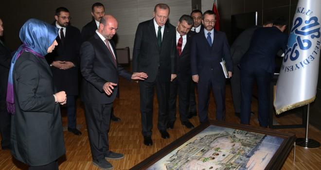 Erdoğan'a, Mekke-i Mükerreme Panoraması