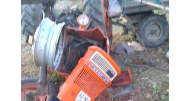 Traktör devrildi 9 kişi yaralandı