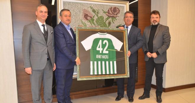 Başkan Hançerli, Konyaspor'u ağırladı