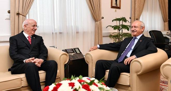 TBMM Başkanı Kahraman, Kılıçdaroğlunu ziyaret etti