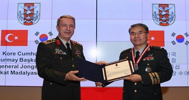Akar, Kore Genelkurmay Başkan Yardımcısı Jongsupu kabul etti