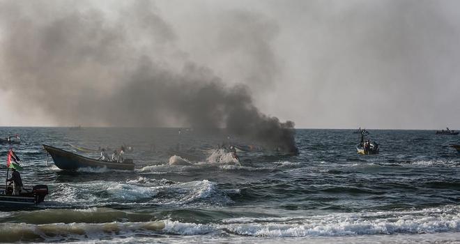 İsrailden deniz ablukası karşıtı Gazzeli aktivistlere müdahale