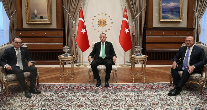 Cumhurbaşkanı Erdoğan Almanya Dışişleri Bakanı Maası kabul etti