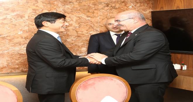 ATO heyeti Japonya Büyükelçisi Miyajima ile görüştü
