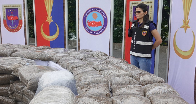 8 ayda 62 ton uyuşturucu madde ele geçirildi