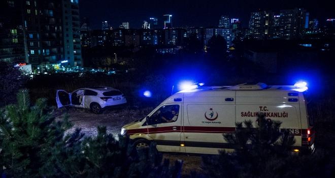 Başkentte iki otomobil şarampole devrildi: 1 yaralı