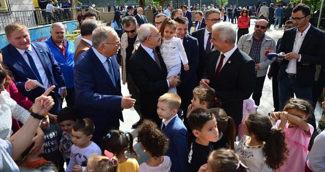 CHP Genel Başkanı Kılıçdaroğlu kreş ziyaret etti