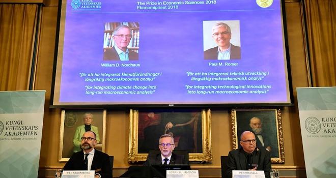 Nobel Ekonomi Ödülünü Nordhaus ve Romer paylaştı