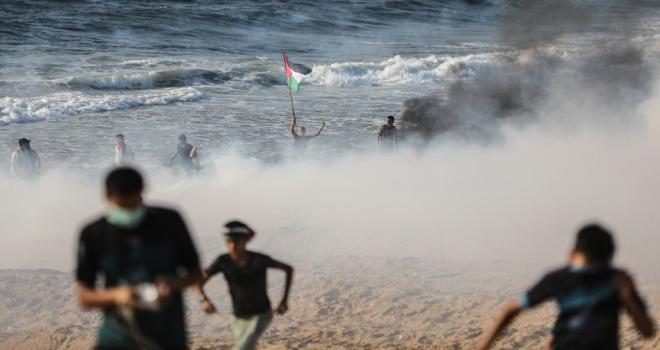 İsrailden Gazze ablukasını kırmak isteyen Filistinlilere müdahale