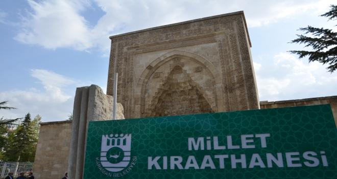 Karamanda millet kıraathanesi açıldı