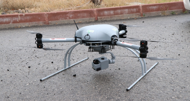 Niğdede drone ile trafik denetimi