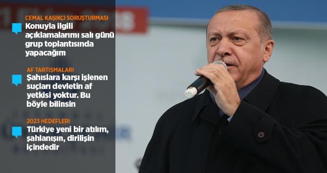Cumhurbaşkanı Erdoğandan Kaşıkçı soruşturmasına ilişkin açıklama