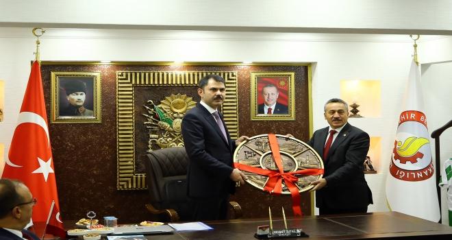 Bakan Murat Kurum Seydişehir Belediyesini ziyaret etti