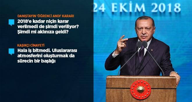Cumhurbaşkanı Erdoğandan öğrenci andı açıklaması