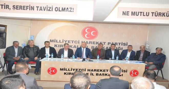 Baloğlu, ilçe başkanlarıyla bir araya geldi