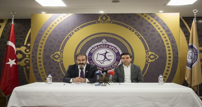 Osmanlısporda teknik direktör Özköylü imzayı attı