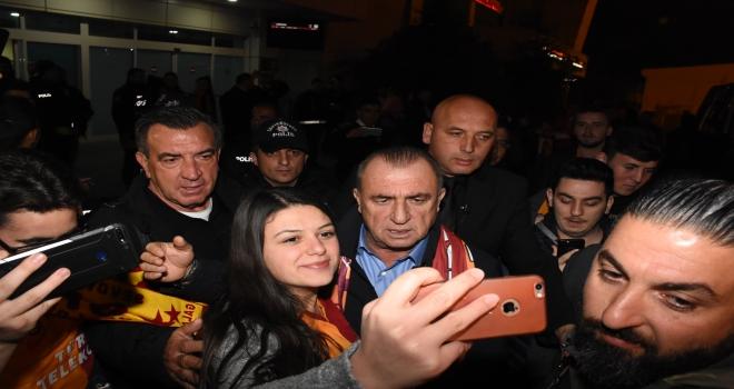 Galatasaray kafilesi Kayseride