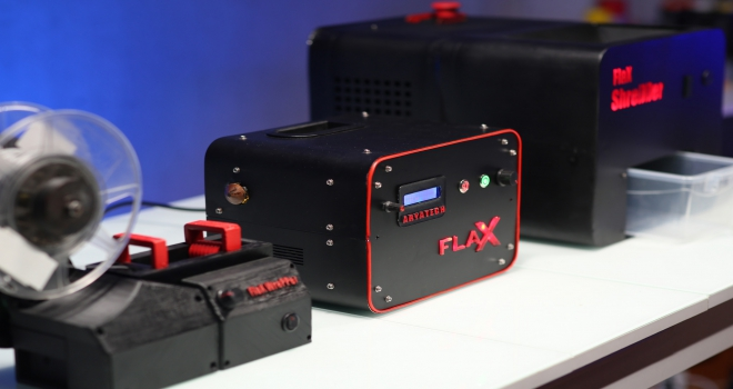Plastik ev atıklarını filamente dönüştüren FlaX Arıkovanı'nda