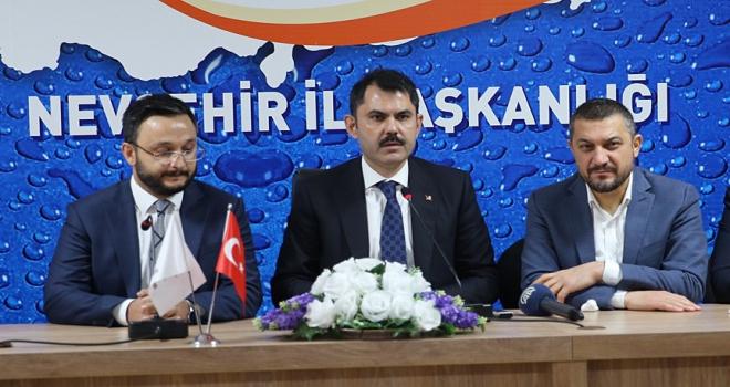 Çevre ve Şehircilik Bakanı Kurum: Bu bölgede her zaman söz sahibi olduk, olmaya devam edeceğiz