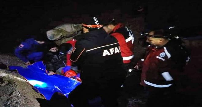 Niğdede avlanırken ayağı kırılan kişi hastaneye kaldırıldı