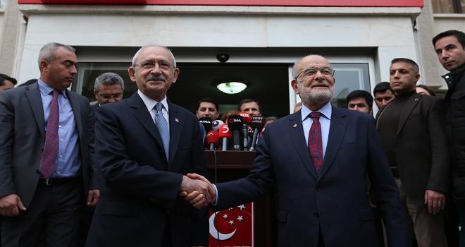 Kılıçdaroğlundan Karamollaoğluna ziyaret