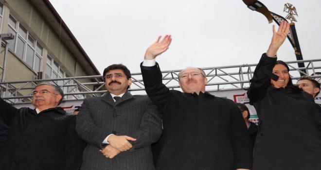 AK Partinin Sivas Belediye Başkan adayı Hilmi Bilgin vatandaşlarla buluştu