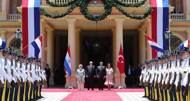 Cumhurbaşkanı Erdoğan Paraguayda