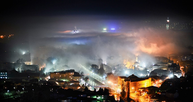 Saraybosnada yoğun hava kirliliği