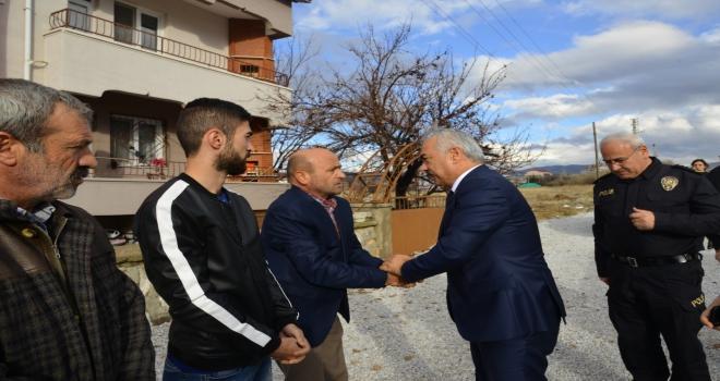 Bakan Yardımcısı Mehmet Ersoy, şehit yakınları ve gaziyi ziyaret etti