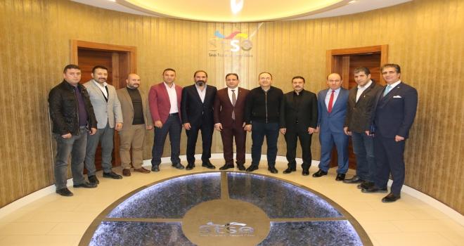 Sivasspor yönetiminden STSOya ziyaret