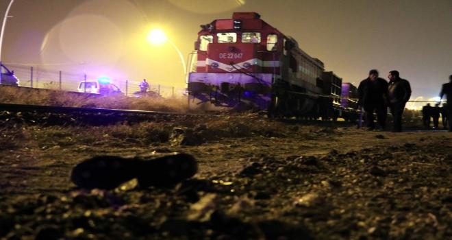 Çankırıda trenin altında kalan kişi öldü