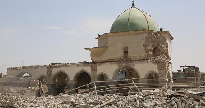 Musulda DEAŞın yıktığı tarihi caminin yeniden inşasına başlandı
