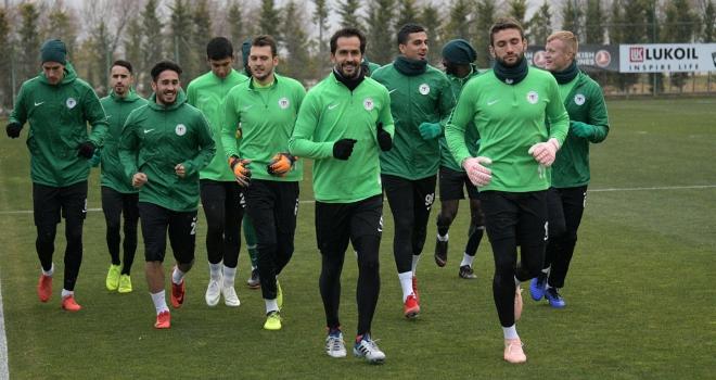 Atiker Konyasporda Akhisarspor maçı hazırlıkları