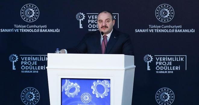 Sanayi ve Teknoloji Bakanı Varank: Türkiye Bölgesel Sektörel Verimlilik Gelişimi Haritası oluşturduk