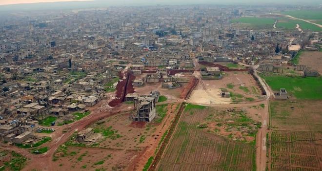 YPG/PKKnın Ayn elArapta kazdığı hendek ve tüneller görüntülendi