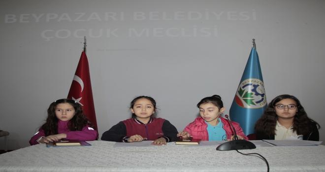 Beypazarı Belediyesi Çocuk Meclisi toplantısı yapıldı