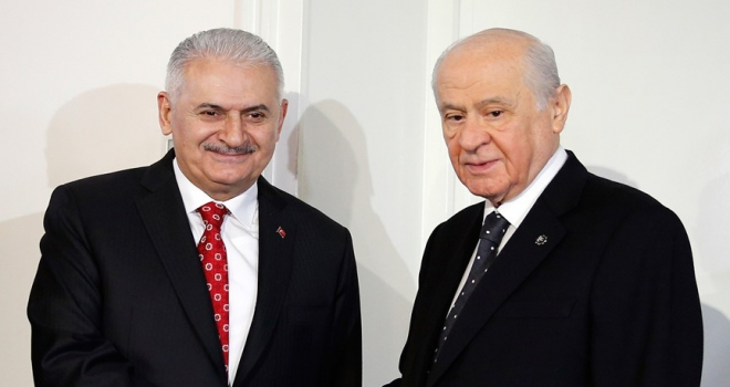 TBMM Başkanı Yıldırım MHP Genel Başkanı Bahçeliyi ziyaret etti