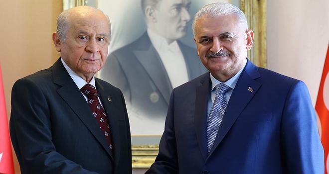 MHP Genel Başkanı Bahçeliden Yıldırıma tebrik