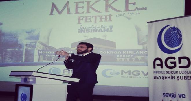 Beyşehirde Mekkenin fethi kutlama programı