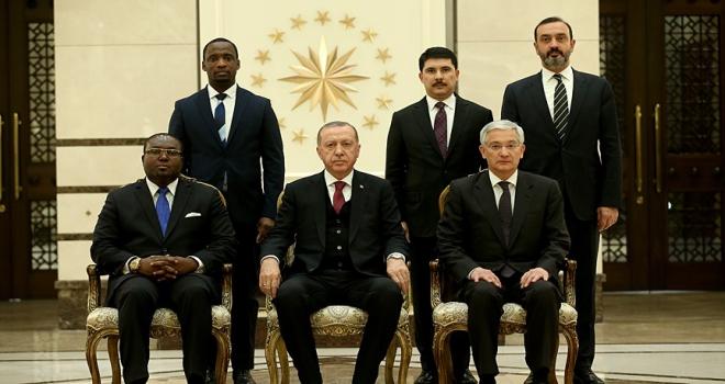 Cumhurbaşkanı Erdoğan, Ekvator Ginesi Büyükelçisini kabul etti